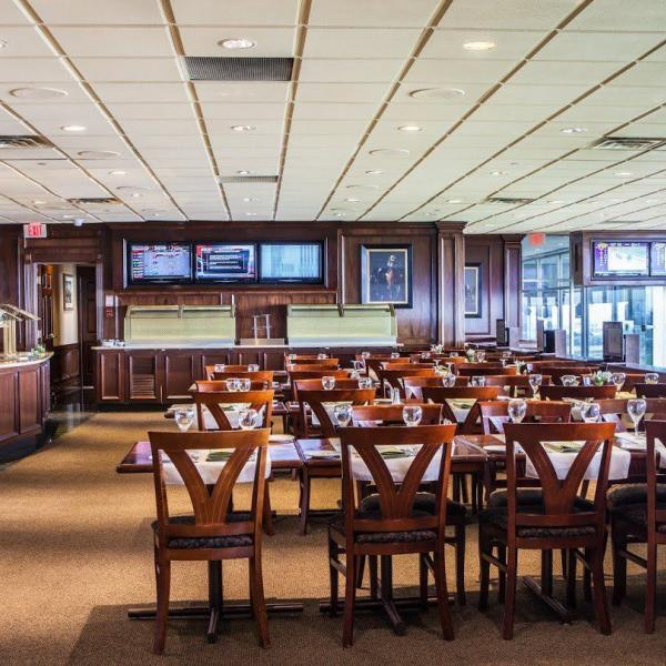 Woodbine Dining Room wide shot with tables